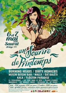 Sourire de Printemps - 7 mai - The Roach / Flöston Paradise / Dirty Honkers